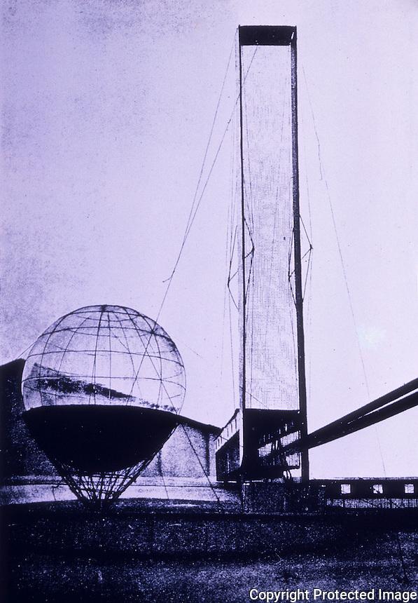 Russia:  Lenin Institute--Diploma Project 1927.  Ivan Leonidov.