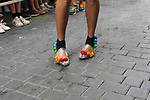 A participant waits for the start of a high-heel race as part of Gay Pride month in the neighbourhood of Chueca on July 4, 2019.on July 04, 2019 in Madrid, Spain.(ALTERPHOTOS/ItahisaHernadez)