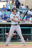 Ben Turner #18 of the San Jose Giants bats against the Lancaster JetHawks at The Hanger on May 3, 2014 in Lancaster, California. San Jose defeated Lancaster, 5-4. (Larry Goren/Four Seam Images)