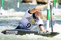 5th September 2021; Parc Olimpic del Segre, La Seu D'Urgell ICF Slalom World Cup, Men's Canoe Final;  Marko Mirgorodsky (SVK)
