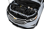 Car Stock 2018 Chevrolet Equinox Premier 5 Door SUV Engine  high angle detail view