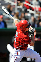 Louisville Cardinals infielder Adam Engel (10) during a game against the St.John's Red Storm at Jack Kaiser Stadium in Queens, New York;  April 17, 2011.  St. John's defeated Louisville 7-2.  Photo By Tomasso DeRosa/Four Seam Images
