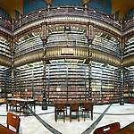 Reading room of the library Real Gabinete Portugues de Leitura, Rio de Janeiro, Brazil. --- No signed releases available.