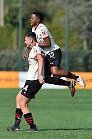 11th September 2021;  Mirko Fersini Stadium, Rome, Italy ; Serie A Womens championship football, Lazio versus Milan ; Serena Cortesi of Milan celebrates after scoring her goal