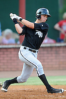 Bristol White Sox designated hitter Zach Stoner #30 swings at a pitch during a game against the Elizabethton Twins at Joe O'Brien Field on June 25, 2012 in Elizabethton, Tennessee. The Twins defeated the White Sox 9-1. (Tony Farlow/Four Seam Images).