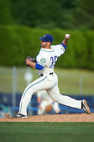 Hartford Yard Goats relief pitcher Matt Pierpont (39) during the first game of a doubleheader against the Trenton Thunder on June 1, 2016 at Sen. Thomas J. Dodd Memorial Stadium in Norwich, Connecticut.  Trenton defeated Hartford 4-2.  (Mike Janes/Four Seam Images)