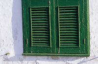 Europe/Espagne/Baléares/Minorque/Mahon : Détail fenêtre