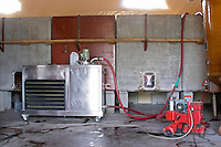 cooling unit and concrete tanks domaine gachot-monot nuits-st-georges cote de nuits burgundy france