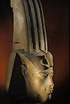 Head of colossal statue of Akhenaten; Karnak; Aten Temple; Amenhotep IV,Tutankhamun and the Golden Age of the Pharaohs, Page 110