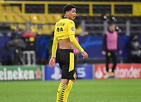 14th April 2021; Induna Park, Dortmund, Germany; UEFA Champions League Football quarter-final, Borussia Dortmund versus Manchester City; Jude Bellingham Borussia Dortmund disappointed after their loss
