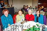 L-R Breda Moriarty, Inch, Bridie Hanifin, Anascaul, Noreen Hanifin and Dora O'Connor, Inch, looking well at the Senior Citizens annual social in the Skellig hotel, Dingle, last Sunday organised by the West Kerry Care of the Aged.