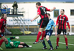 Forfar Athletic v St Johnstone....08.02.14   Scottish Cup 5th Round<br /> Frazer Wright heads in to make it 2-0<br /> Picture by Graeme Hart.<br /> Copyright Perthshire Picture Agency<br /> Tel: 01738 623350  Mobile: 07990 594431
