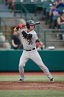 Tri-City ValleyCats Korey Lee (35) at bat during a NY-Penn League game against the Brooklyn Cyclones on August 17, 2019 at MCU Park in Brooklyn, New York.  Brooklyn defeated Tri-City 2-1.  (Mike Janes/Four Seam Images)