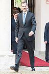 King Felipe VI of Spain attends to the delivery of the Camino Real Award to spanish actor Antonio Banderas at Alcala de Henares in Madrid, April 26, 2017. Spain.<br /> (ALTERPHOTOS/BorjaB.Hojas)