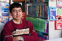 Kathmandu, Nepal.  Nepali Book Store Salesman.