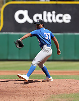 Johangel Ramirez participates in the MLB International Showcase at Estadio Quisqeya on February 22-23, 2017 in Santo Domingo, Dominican Republic.