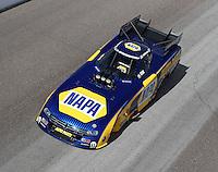 Feb 22, 2015; Chandler, AZ, USA; NHRA funny car driver Ron Capps during the Carquest Nationals at Wild Horse Pass Motorsports Park. Mandatory Credit: Mark J. Rebilas-
