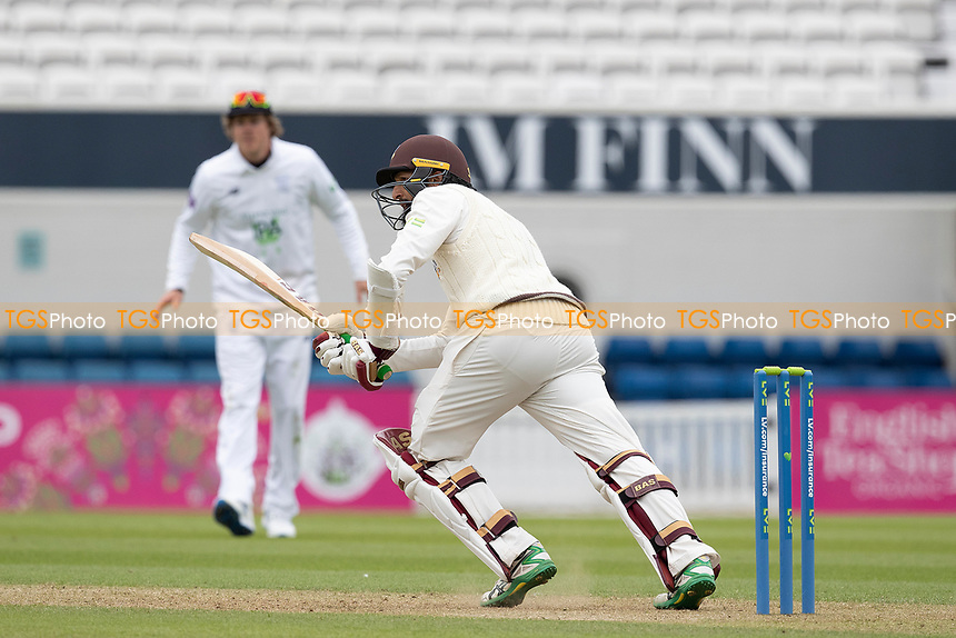 Hashim Amla of Surrey CCC pushes into mid wicket for a single during Surrey CCC vs Hampshire CCC, LV Insurance County Championship Group 2 Cricket at the Kia Oval on 30th April 2021