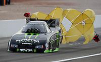 Nov. 1, 2008; Las Vegas, NV, USA: NHRA funny car driver Tommy Johnson Jr during qualifying for the Las Vegas Nationals at The Strip in Las Vegas. Mandatory Credit: Mark J. Rebilas-