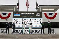 #60 KOHR MOTORSPORTS Aston Martin Vantage GT4, GS: Nate Stacy, Kyle Marcelli, #3 Motorsports In Action McLaren 570S GT4, GS: Sheena Monk, Corey Lewis, #39 CarBahn with Peregrine racing Audi R8 GT4, GS: Tyler McQuarrie, Jeff Westphal, podium