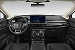 Stock photo of straight dashboard view of 2021 Lincoln Nautilus Standard 5 Door SUV Dashboard