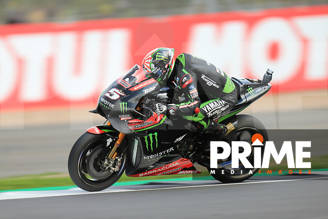 Johann Zarco (5) of the Monster Yamaha Tech 3 race team during the GoPro British MotoGP at Silverstone Circuit, Towcester, England on 26 August 2018. Photo by Chris Brown / PRiME Media Images
