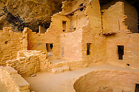 Kiva E, room complex and tower, Spruce Tree House, Ancestral Puebloan, Chapin Mesa, Mesa Verde National Park, Colorado, USA