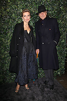 Melita Toscan Du Plantier and Jeremy Irons<br /> at the 2017 Charles Finch & CHANEL Pre-Bafta Party held at Anabels, London.<br /> <br /> <br /> ©Ash Knotek  D3227  11/02/2017