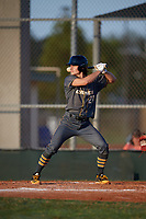Cole Young (21) during the WWBA World Championship at Lee County Player Development Complex on October 9, 2020 in Fort Myers, Florida.  Cole Young, a resident of Wexford, Pennsylvania who attends North Allegheny High School, is committed to Duke.  (Mike Janes/Four Seam Images)