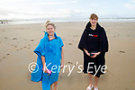 Kate Leen and Siobhan Sheehy from Ballymac and Tralee after enjoying the afternoon swim in Banna on Sunday.