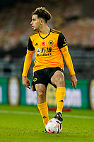 30th October 2020; Molineux Stadium, Wolverhampton, West Midlands, England; English Premier League Football, Wolverhampton Wanderers versus Crystal Palace; Rayan Aït-Nouri of Wolverhampton Wanderers puts his foot on the ball