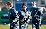 St Johnstone Training…08.12.17<br />David Wotherspoon having a laugh with Blair Alston at McDiarmid Park today during training ahead of tomorrow's game at Hamilton<br />Picture by Graeme Hart.<br />Copyright Perthshire Picture Agency<br />Tel: 01738 623350  Mobile: 07990 594431