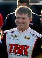 Feb 20, 2009; Fontana, CA, USA; NASCAR Sprint Cup Series driver Scott Riggs during qualifying for the Auto Club 500 at Auto Club Speedway. Mandatory Credit: Mark J. Rebilas-