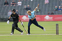 Ben Allison in bowling action for Essex during Gloucestershire vs Essex Eagles, Royal London One-Day Cup Cricket at the Bristol County Ground on 3rd August 2021