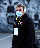 6 March 2021; Eric O'Sullivan arrives for the Guinness PRO14 match between Ulster and Leinster at Kingspan Stadium in Belfast. Photo by John Dickson/Dicksondigital