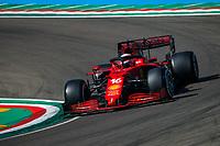 16th April 2021; Autodromo Enzo and Dino Ferrari, Imola, Italy; F1 Grand Prix of Emilia Romagna, Free Practise sessions;  16 LECLERC Charles (mco), Scuderia Ferrari SF21