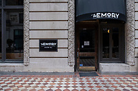 "The Emory, a restaurant in Beacon Hill near the MA State House, announced a temporary closure on social media on Oct. 8, 2020, due to restrictions on restaurants put in place during the ongoing Coronavirus (COVID-19) global pandemic in Boston, Massachusetts, on Sat., Jan. 9, 2021. The restaurant's Instagram post reads, in part: ""The Emory is closed until further notice....This is not the end. We are hoping to re-open in the spring of 2021--hopefully by then, the world will be in a better state and we can bring The Emory back!"""