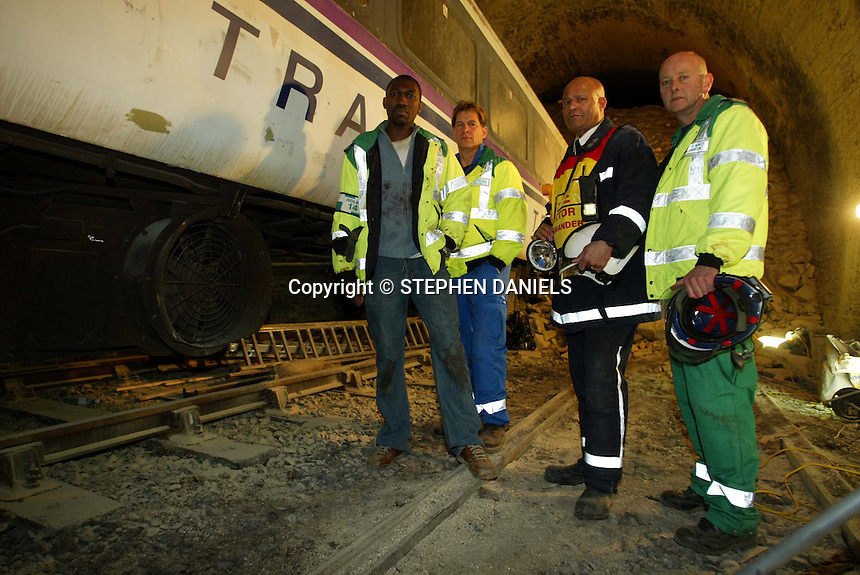 """PHOTO BY © STEPHEN DANIELS<br /> FILMING BBC TV PROGRAMME """"CASUALTY"""" AT NENE VALLEY RAILWAY,  PETERBOROUGH, Cambs"""