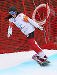 14/03/2014. Canadian Michelle Salt competes in the women's para snowboard cross standing event at the 2014 Sochi Paralympic Winter Games in Sochi, Russia.(Photo: Scott Grant/Canadian Paralympic Committee)