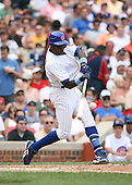 Alfonso Soriano of the Chicago Cubs vs. the San Diego Padres: June 18th, 2007 at Wrigley Field in Chicago, IL.  Photo copyright Mike Janes Photography 2007.