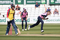 Blake Cullen in bowling action for Middlesex during Essex Eagles vs Middlesex, Vitality Blast T20 Cricket at The Cloudfm County Ground on 18th July 2021