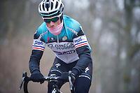 Paris-Roubaix 2013 RECON..Sylvain Chavanel (FRA) Trouée d'Arenberg reconnaissance.