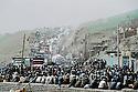 Iran 1991 In Piranshar, Iraqi Kurdish refugees waiting for their relatives after crossing the border  Iran 1991 A Piranshar, l'attente des refugees kurdes irakiens pour retrouver des membres de leur famille