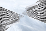 Abstract and symmetrical interpretation of the Transamerica Building in San Francisco