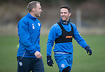 St Johnstone Training…30.12.16<br />Steven Anderson and Chris Millar pictured during training this morning ahead of tomorrow's game against Dundee<br />Picture by Graeme Hart.<br />Copyright Perthshire Picture Agency<br />Tel: 01738 623350  Mobile: 07990 594431