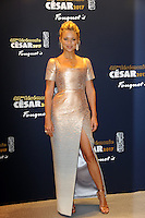 PARIS, FRANCE - FEBRUARY 24: Virginie Efira arrives attends the Red Carpet Arrivals during the Cesar Film Awards 2017 at Le Fouquet's on February 24, 2017 in Paris, France.