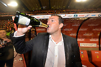 Marc Wilmots entraineur Belgique<br /> Champagne <br /> Football Calcio 2013/2014<br /> Qualificazioni Mondiali 2014 <br /> Belgio - Galles <br /> Foto Panoramic / Photonews / Insidefoto <br /> ITALY ONLY