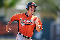 Baltimore Orioles Jason Heinrich (17) during an instructional league game against the Tampa Bay Rays on September 25, 2015 at Ed Smith Stadium in Sarasota, Florida.  (Mike Janes/Four Seam Images)