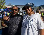 Antoine and Aqueeleh Johnson (defensive end Amari Johnson's parents) during the Nevada vs Weber State football game in Reno, Nevada on Saturday, Sept. 14, 2019.