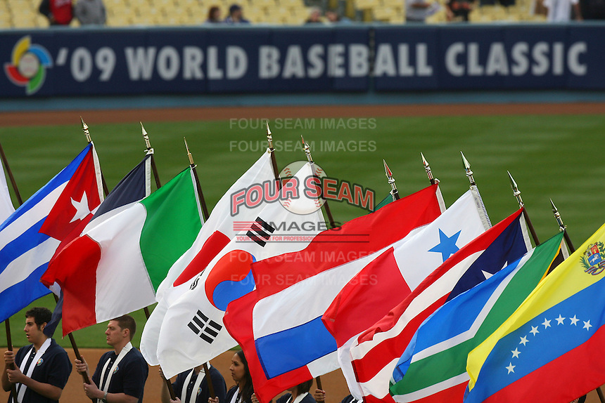 World Baseball Classic game between Venezuela and Korea at Dodger Stadium on March 21, 2009 in Los Angeles, California. (Larry Goren/Four Seam Images)